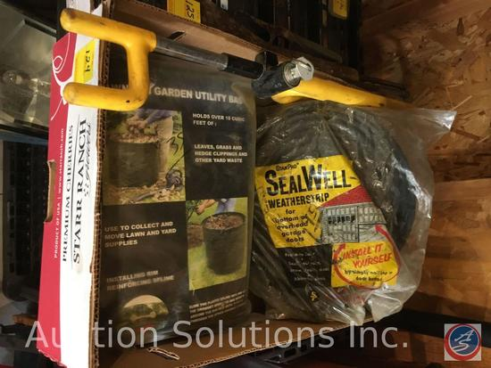 Box containing steering wheel lock, Lawn and Garden Utility Bag, Bag of StanPro SealWell