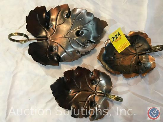 CopperCraft Three Leaf Design Candy Dishes/Servers
