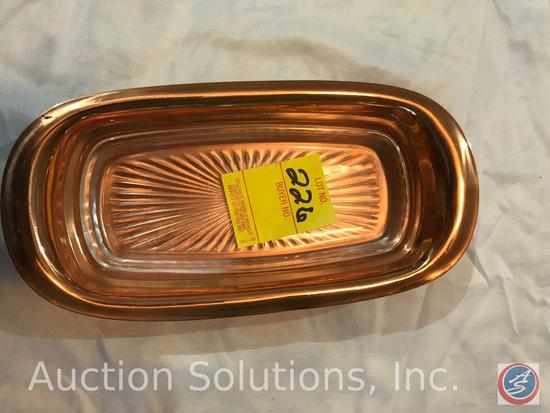 CopperCraft Butter Dish with Glass Insert, Napkin Holder