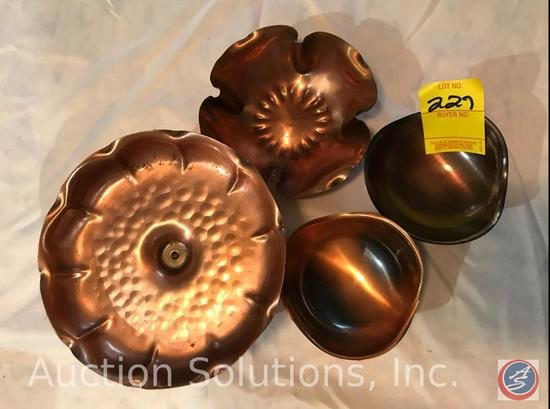 Solid Copper dish, Gregorian copper bowl, [2] CopperCraft Guild Footed Bowls