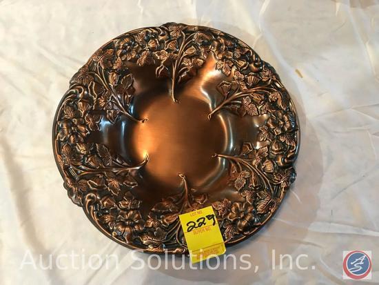 CopperCraft Guild floral bowl