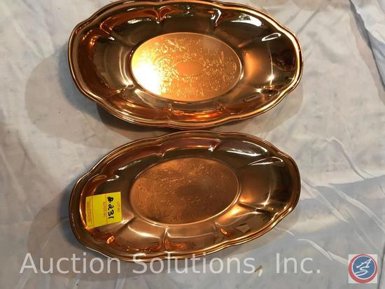 [2] CopperCraft Guild oval dishes, and a CopperCraft Guild jardiniere