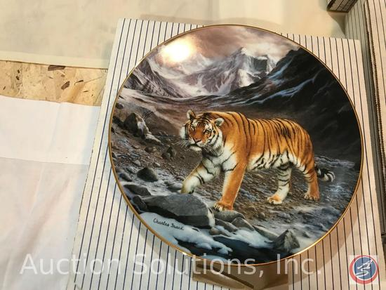 [7] W.S. George Fine China Collector Plates in Original Boxes - 'World's Most Magnificent Cats'