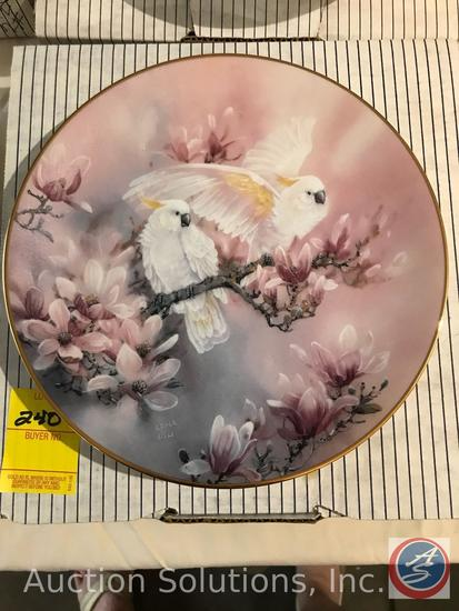 [4] Len Liu 'On Wings of Snow' Collector Plate Series: The Doves, The Herons, The Egrets, The