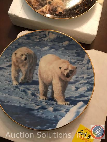 [5] John Seery-Lester 'Bear Tracks' Collector Plates: Denali Family, Along the Ice Floes, Breaking