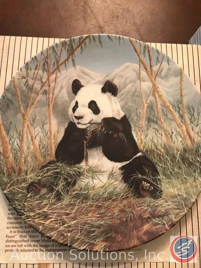 [7] Joyce Bridgett 'The Secret World of the Panda' Plates in Original Boxes: A Mother's Care, Lazy