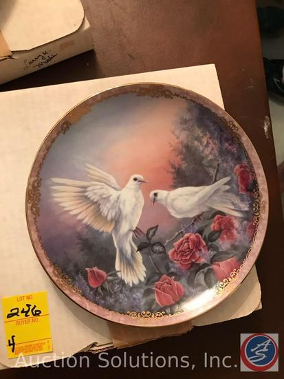 [4] Larry K Merlin 'Radiant Messenger's' Collector Plates in Original Boxes: Peace, Beauty,