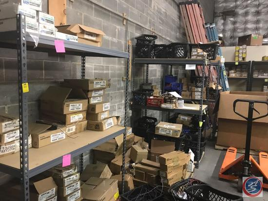 (3) Shelving Units {{CONTENTS INCLUDED}} 80x 51x 24 (2) Shelving Units {{CONTENTS INCLUDED}}