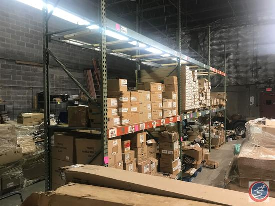 (3) Sections of Pallet Rack That includes (4) 144 inch by 42 inch uprights, (12) 96 inch beams and