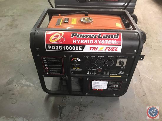 Powerland Hybrid System Tri Fuel 10,000 wat generator. Model PD3G10000E