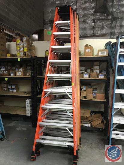 {{TIMES THE MONEY}} (8) Werner 10 ft Step ladders, 300 lb weight limit