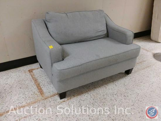 Fusion Furniture, Inc. brand grey lounge chair (52x36)