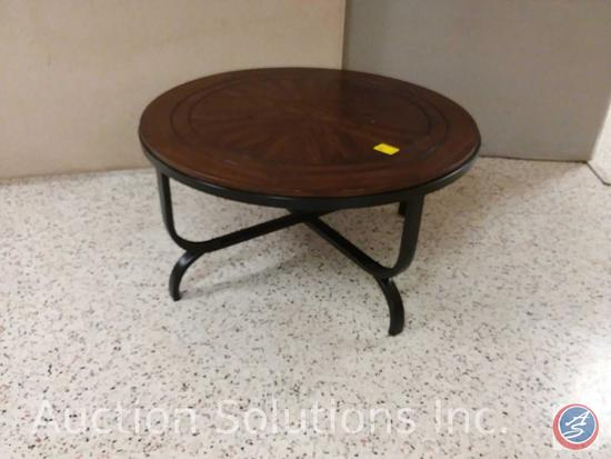 Ashley (T238-13) round occasional table with metal base (36x18)