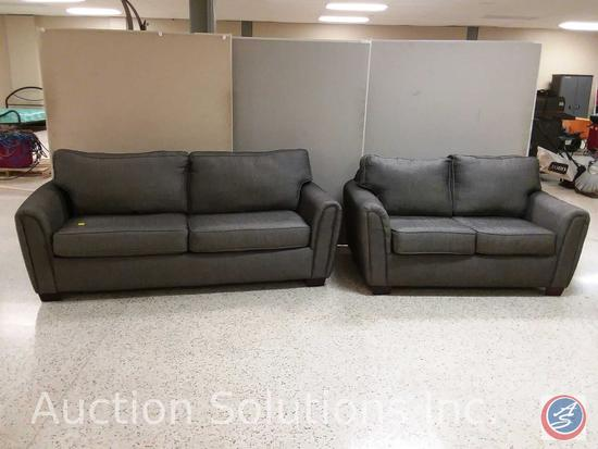 Talbot Onyx sofa (84x40) and loveseat (64x39x28.5) {{SOLD TWO TIMES THE MONEY}}