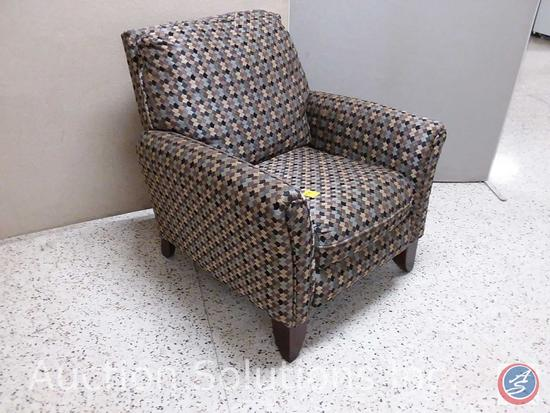 Designer high-leg recliner lounge chair (33x36)
