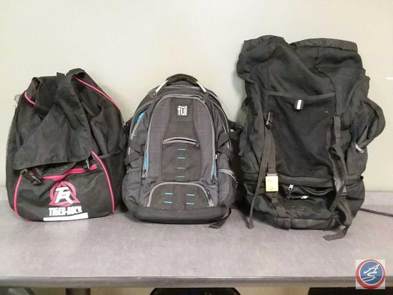 (3) backpacks by Tiger Rock, Ful and The North Face