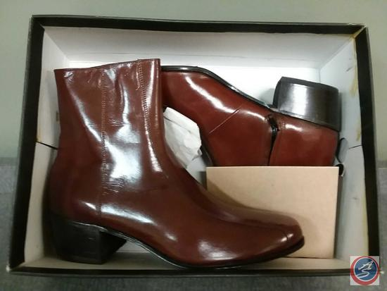 Men's {{NEW}} Duke Brown Leather Ankle Boots Size 10