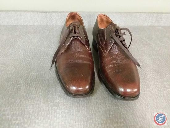 Men's Brown Leather Florsheim Lace-up Dress Shoes {{LIKE NEW}} Size 8 1/2