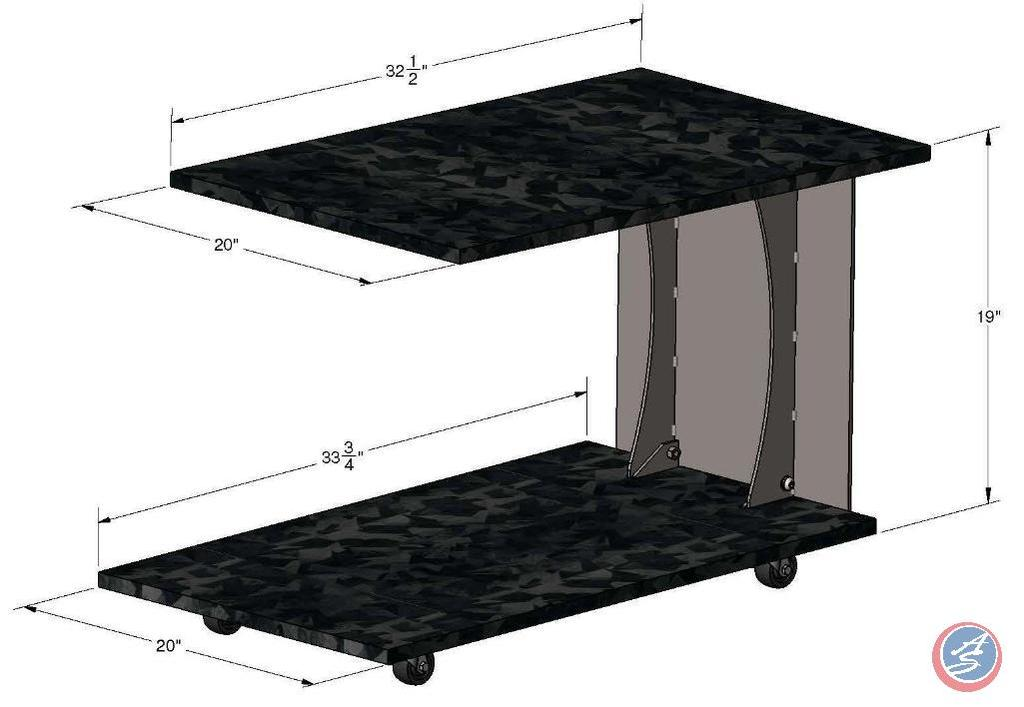 Part Number R11327KD-2-B-KIT Description C Table - Shards Black Finish Black Carton QTY 1 Extended