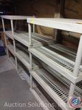 Plastic storage shelving - 3 sections - 24