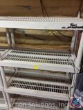 Plastic storage shelving - 18