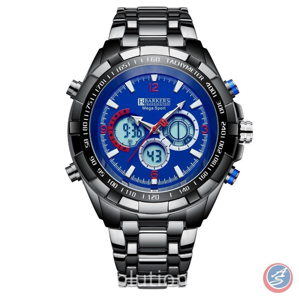 Mega Sport Blue Wrist Watch