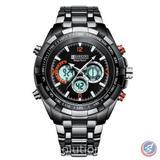 Mega Sport Black Wrist Watch