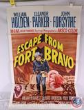 'Escape from Fort Bravo' Vintage 1962 Movie Poster