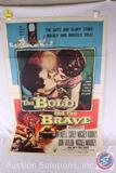 'The Bold and The Brave' 1956 Vintage Movie Poster, 48760 {{SOME WEAR AND TEAR}}