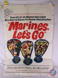 'Marines, Let's Go' 1961 Vintage Movie Poster, 61/224 {{SOME WEAR AND TEAR}}