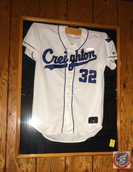 huge discount c5af1 93e4a Creighton Baseball Jersey in Shadow Box Measuring 38 X 29 X ...