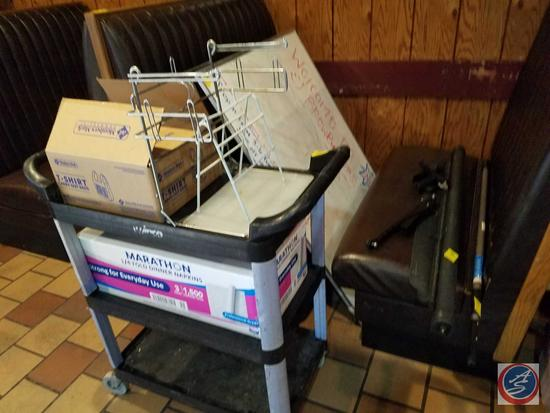 3 Tier Winco Rolling Cart (Plastic), Large Window Shade and 11ft Medium Duty Tele-Pole
