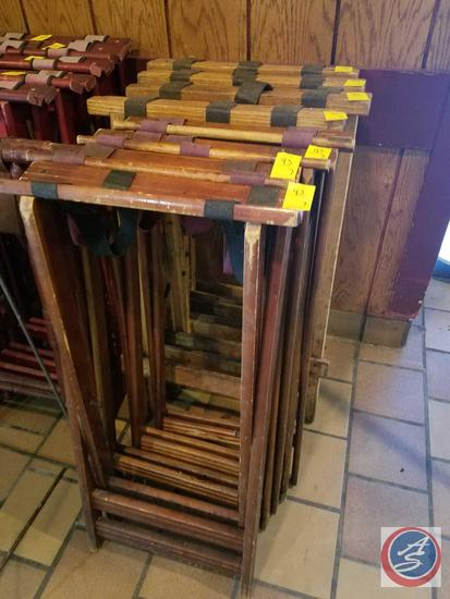 7 Wooden Tray Stands