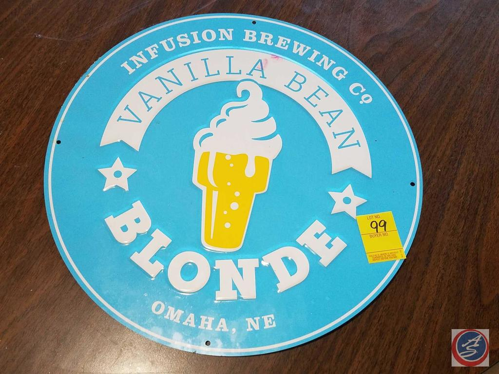 Infusion Brewing Co. Vanilla Bean Blonde Sign