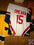 Hockey Jersey with OMEARA 15 on Back