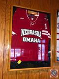 UNO Mavericks Hockey Jersey in Shadow Box Measuring 38 X 29 X 3