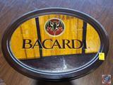 Oval Bacardi Mirror Signage