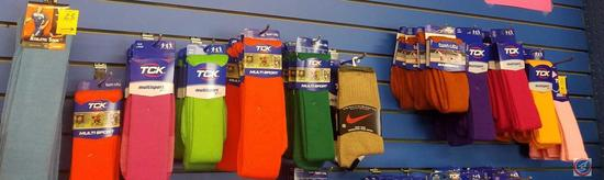 TCK Socks Assorted Sizes and Colors Contents of 11 Hooks