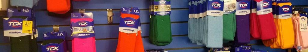 TCK Socks Assorted Sizes and Colors Contents of 12 Hooks