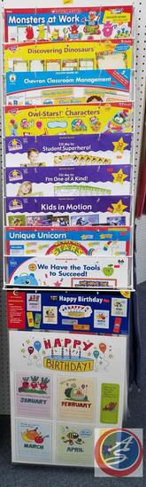 Assorted Bulletin Boards Such As Superhero Fill-Me-In, Discovering Dinosaurs, We Have The Tools To