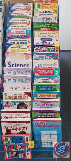 Various Math and Science Practice Books and Graphic Paper Art Books [CONTENTS ONLY; SHELVING NOT