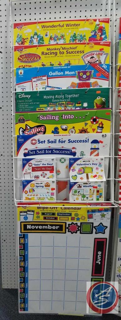 Assorted Bulletin Board Sets Including Wonderful Winter, Monkey Mischief, Sesame Street and More