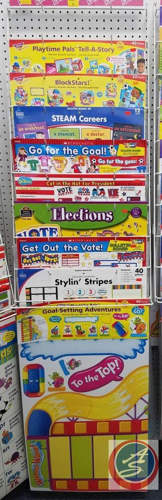 Assorted Bulletin Board Sets Such As Playtime Pals Tell A Story, BlockStars!, Election and More