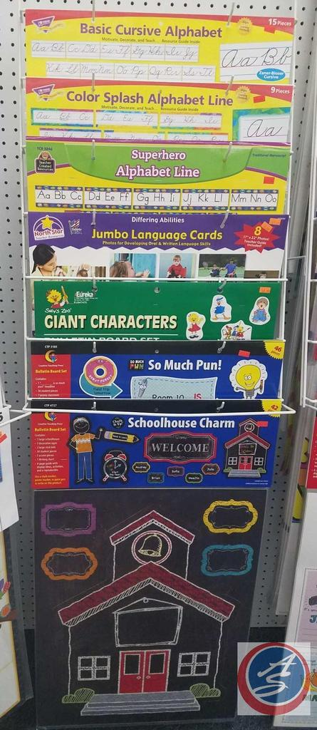 Assorted Cursive and Manuscript Letter Strips, Assorted Jumbo Language Cars and Bulletin Board Sets