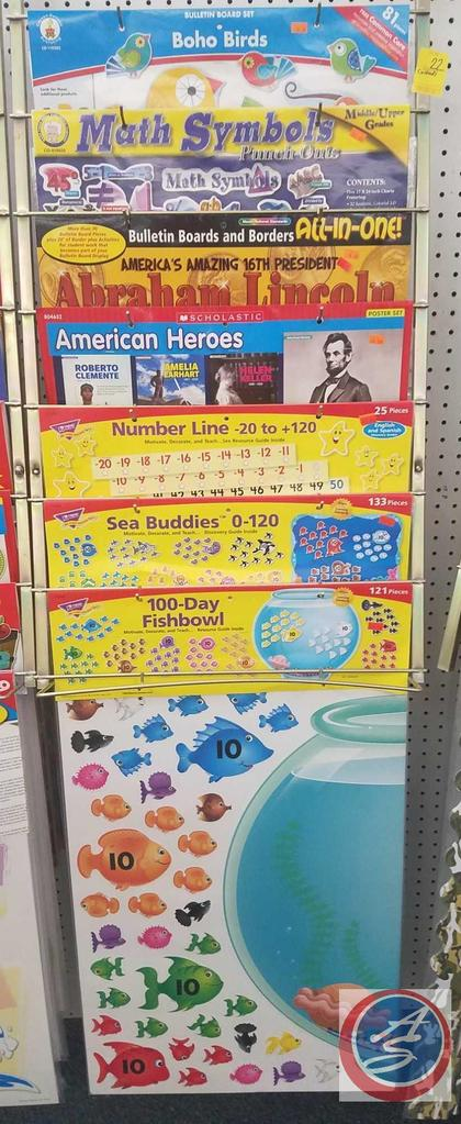 Bulletin Boards Including Math Symbols, Boho Birds, Abraham Lincoln, Sea Buddies and More [CONTENTS