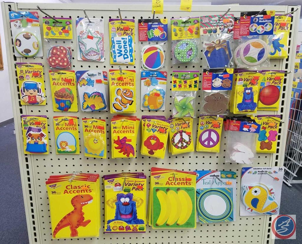 Several Styles of Mini Cut-Out and Mini Accents Including Sock Monkeys, Monsters, Rabbits, Bananas,