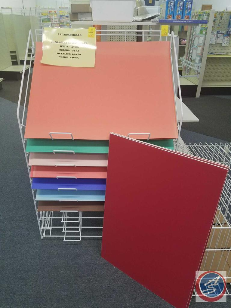 Rail Road Board in Assorted Colors [CONTENTS ONLY; SHELVING NOT INCLUDED]