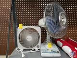 Oscillatiing 12 in. 3 Speed Fan, Cool Breeze Oscillating 12 in Fan, Holmes Heater (Model HFH4717),