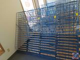 Blue Wire Book Rack Measuring 51.5 X 18.25 X 24 (SOLD 4X'S THE MONEY)