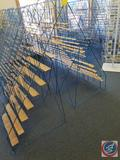 Blue Wire Book Rack Measuring 54 X 23 X 25.5 (SOLD 2X'S THE MONEY)